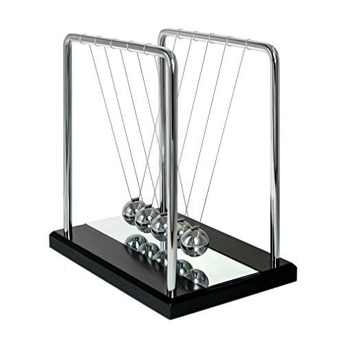 pendolo-di-newton-ailiebhaus-perpetual-sfera-pendolo-legno-base-con-specchio