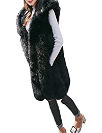 HLHN Damen Faux Pelz Weste Gilet Shrug Mantel Outwear