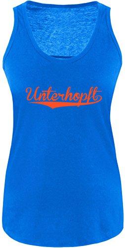 EZYshirt® Unterhopft Damen Tanktop Royal/Orange