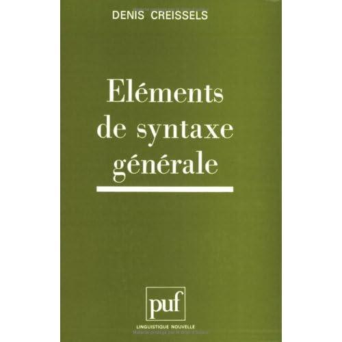 Éléments de syntaxe générale