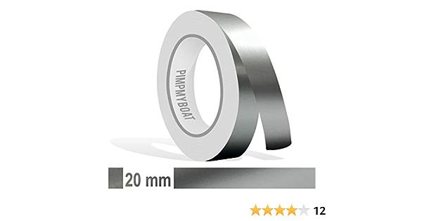 Siviwonder Zierstreifen Silber Metallic Glanz In In 20 Mm Breite Und 10 M Länge Für Auto Boot Jetski Modellbau Klebeband Dekorstreifen Auto