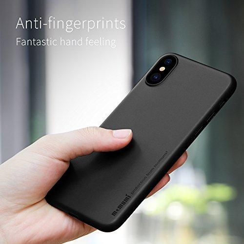 Cover iPhone X, Case iPhone X, MEMUMI Custodia Ultra Sottile Anti-Graffio e Resistente Alle Impronte Digitali Caso Della Copertura Protettiva in Plastica Dura Black