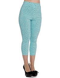 Pantaloni Capri 3 4 di Hell Bunny Blu Kay A Pois in Stile Vintage degli c2ad3ff2bdb