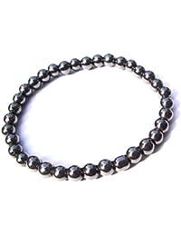 KYC- Hematite Round Beads Bracelet With Buddha