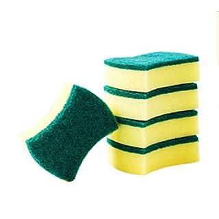 GROOMY 5 Teile / 1 Satz Magie Schwamm Radiergummi Küche Duster Tücher Home Reinigen Zubehör Mikrofaser Geschirrreinigung Melamin Schwämme Nano Küche Werkzeuge (Farbe: Gelb)