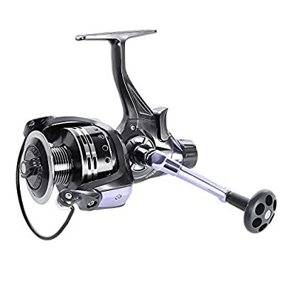 OutLife Fishing Spinning Reel - Baitrunner Front&Rear Brake Drag 11+1 Ball Bearing 4.7:1 for Freshwater / Saltwater from outlife