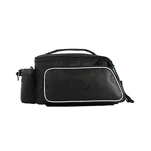 Fahrradtaschen für Gepäckträger, Wasserdicht Schultertasche Radtasche Mit Schließe für Fahrrad-Rücklicht und Wasserflaschenhalter 01
