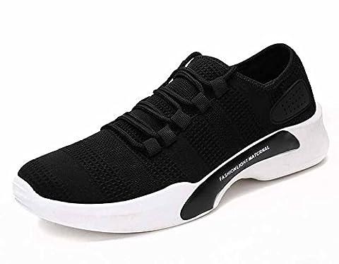 Hommes Décontractée Chaussures De Sport 2017 L'automne Respirant De Plein Air Chaussures De Voyage ( Color : Black , Size : 44 )
