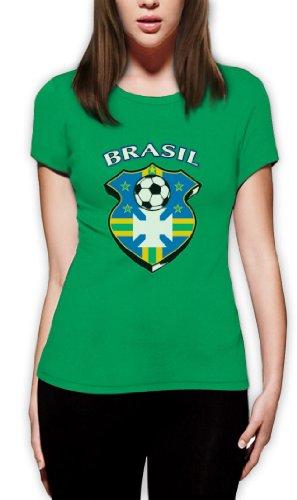 Brasil World Cup Soccer Frauen T-Shirt Grün