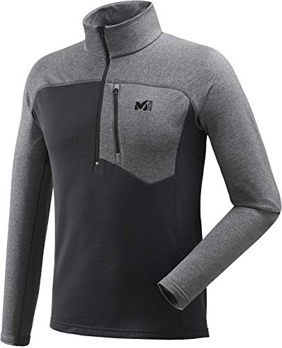 MILLET TECHNOSTRETCH Zip Polaire Homme, Noir/h Tarmac, FR : M (Taille Fabricant : M)