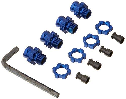 Traxxas 6856 X Moyeu de Roue et écrou Modèle de Voiture pièces, Bleu, 17 mm
