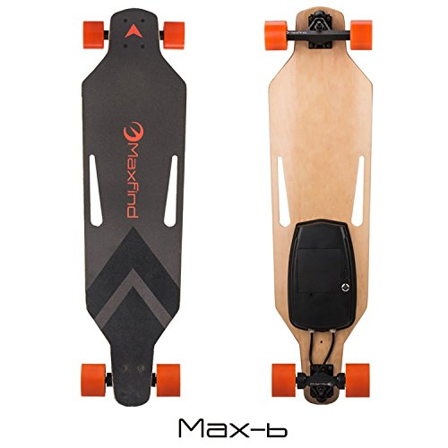 Patineta Maxfind Longboard Dual Monopatín con Ruedas a Motor (Max 1), Unisex, MAX B