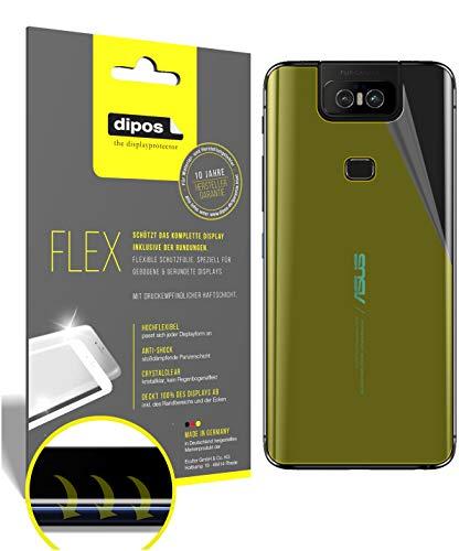 dipos I 3X Schutzfolie 100% passend für Asus Zenfone 6 (ZS630KL) Rückseite Folie I 3D Full Cover Bildschirmschutzfolie