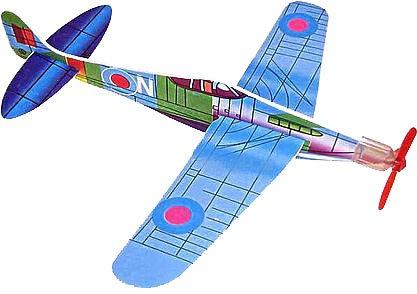 avion-de-espuma-de-poliestireno-con-varios-motivos-y-una-pulsera-de-la-suerte