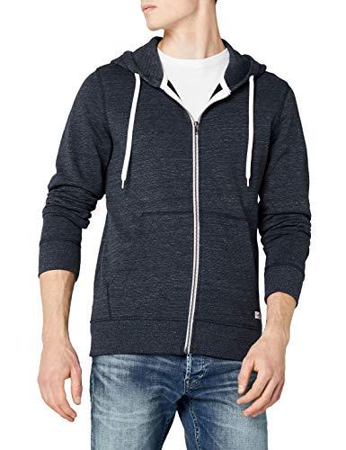 JACK & JONES Herren JORSTORM Sweat Zip Hood Basic NOOS Jacke, Blau (Navy Blazer Fit:reg), Small (S) Zip-jacke Navy