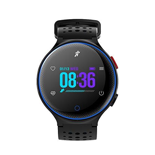 Fitnessarmband Smartwatch mit Blutdruckmessung Fitnessuhr Männer Damen die mit iOS und Android Kompatibel Sind,Blue