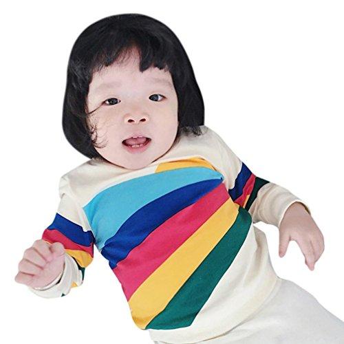 MäDchen Sweatshirt,Bobo4818 Esprit Langarmshirt MäDchen Baby-MäDchen,Rainbow Print (68) (Hawaiian Kleidung Baby)