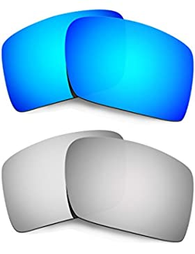Hkuco Plus Replacement Lenses For Oakley Eyepatch 2-2 pair Combo Pack