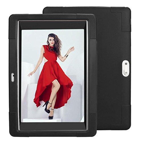 samLIKE Universal Silikon Hülle für 10 10,1 Zoll Android Tablet PC (Schwarz)