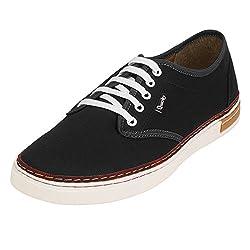 Quarks Mens Black Smart Canvas Casual Shoes J1122BK-10