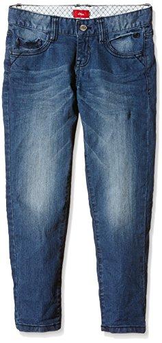 s.Oliver Junior Jungen Jeanshose 5 - Pocket, Gr. 128, Blau (blue denim stretch 56Z2)