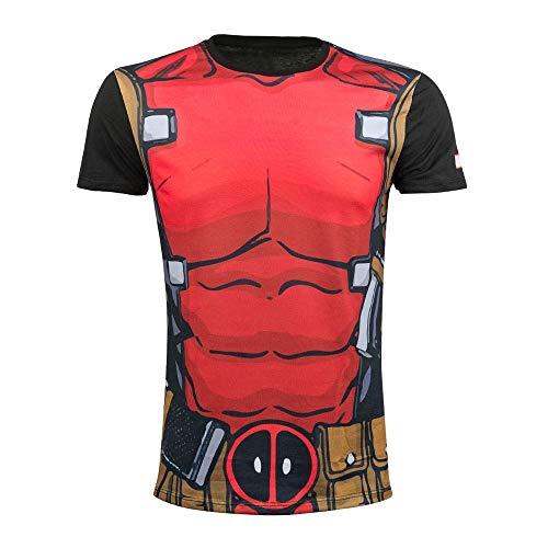Deadpool - Anzug Allover - T-Shirt | Marvel | Schwarz, Größe:XL