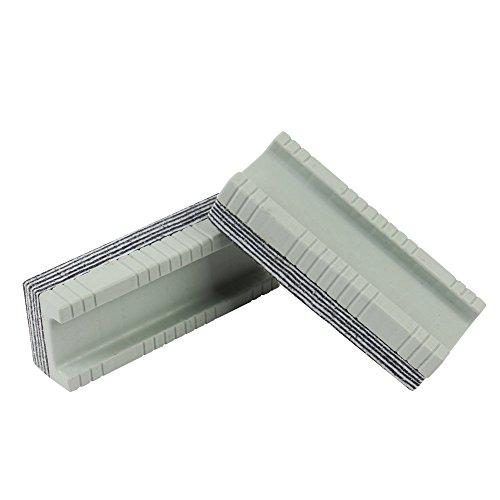 2er Pack Whiteboard Schwamm Mit 12 Reinigungs-Schichten Zum Einzeln Entfernen Multilayer In Grau Größe: 145 X 55 Mm Für Trockenreinigung Große Tafel Von Amathings