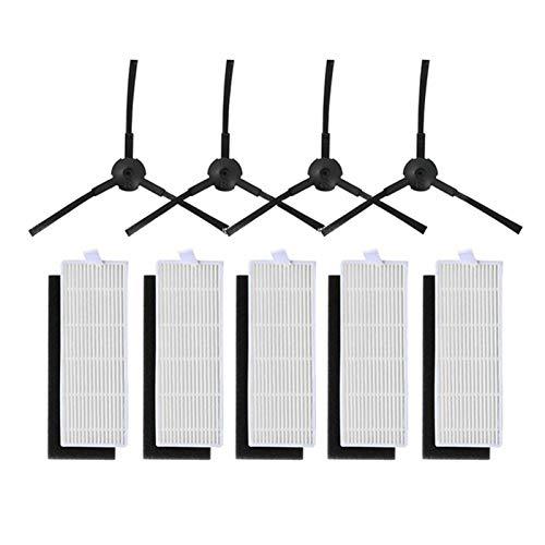 SODIAL 1 Ensemble pour ILIFE A4 Robot Nettoyeur ILIFE A4s A6 A4 Robot Aspirateur Filtre hepa et Brosse Laterale