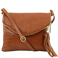 Tuscany Leather TL Young Bag Shoulder Bag with Tassel Detail Cognac