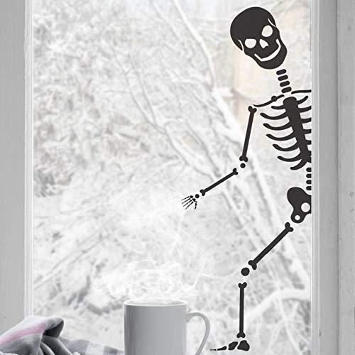 Halloween Wandaufkleber Schädel Knochen Party Decor Fenster Aufkleber weihnachtsfeier dekoration wohnzimmer dekoration 57 * 152 cm