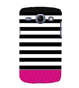 Fiobs Designer Back Case Cover for Samsung Galaxy Core I8260 :: Samsung Galaxy Core Duos I8262 (Stripes Patterns Designs Patti Zebra Mobile Cover Back)