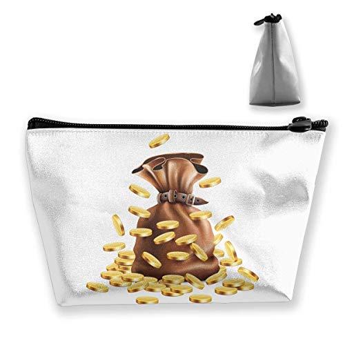 Roll-geldbeutel-handtasche (Trapez-Kulturbeutel Tragbare Reisetasche Geldbeutel Kosmetiktasche)