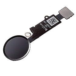 Home Button für iPhone 6S / 6S Plus iPhone 7 iPhone 8 Weiß Schwarz Homebutton mit flexkabel Taste inkl. Metal Bracket Gummi Halterung (Schwarz, iPhone 8 Plus)