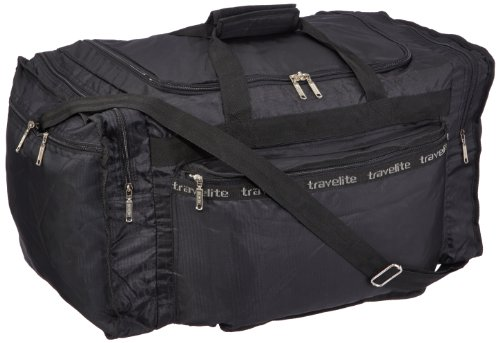 Travelite Falt-Reisetasche MiniMax L, schwarz, 60x34x33 cm, 61 Liter (Falt-shopper)
