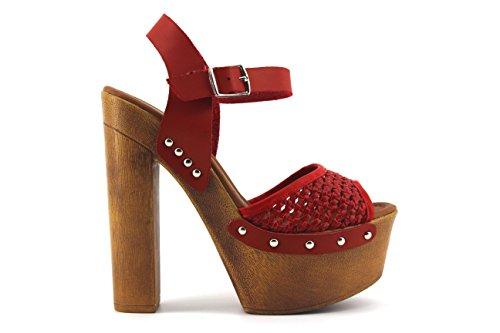 Modelização Modelização Femininas Vermelho Sandálias Sandálias 0qxxa1XwP5