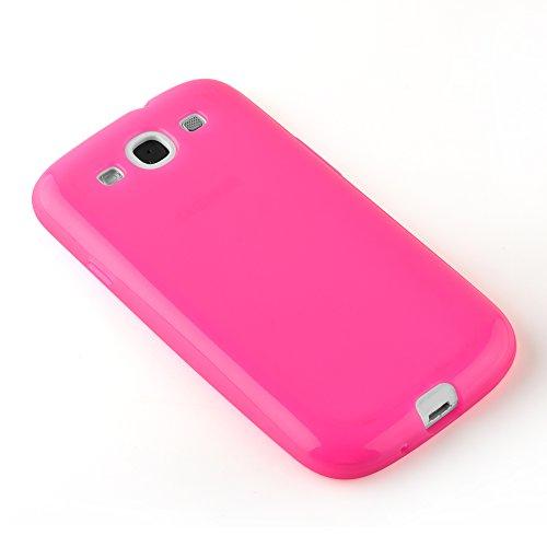 Cadorabo - TPU Silikon Schutz-Hülle (Full Body Rund-um-Schutz auch für das Display) für >               Samsung Galaxy S3 / S3 NEO               < - (I9300) in FLIEDER-VIOLETT HOT-PINK
