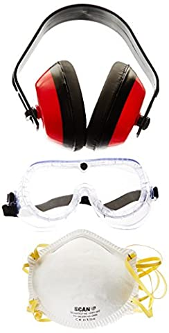 Scan PPEKITN Goggles Earmuff and Masks Safety Kit