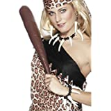 Smiffys, Damen Voodoo Fangzähne Set, Kette, Ohrringe und Armband, One Size, Weiß, 26549