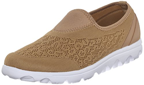 Propet TravelActiv Knit Damen Maschenweite Wanderschuh Honey