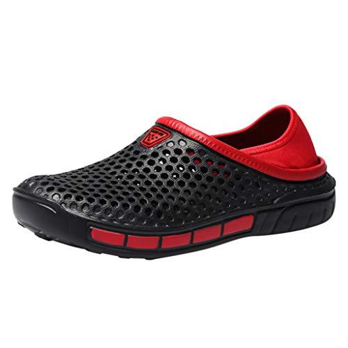 Pantofole Sportive Scarpe Casual Scarpe da Passeggio da Spiaggia da Uomo Summer Indoor (38 EU,Nero)