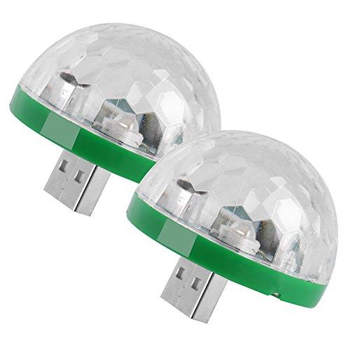 Mini LED Stage Magic Light, 2 STÜCKE USB Farbwechsel Ball für KTV, Party, Hochzeit, Show, Club Pub Disco DJ und mehr(Für usd)