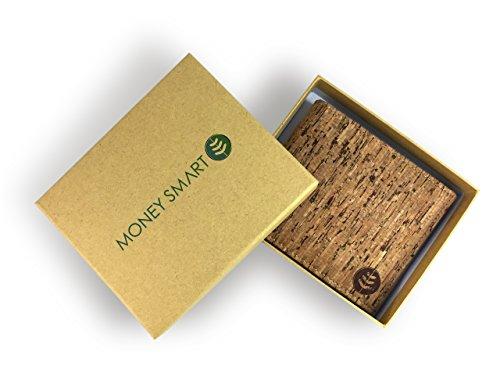 Lederfreie Geldbörse mit RFID-Schutz - klassisches & Vintage Design für Herren - aus natürlichem Kork hergestellt - stylishes Portemonnaie mit Kartenfächern & Geldscheinfach - vegan & umweltfreundlich - 4
