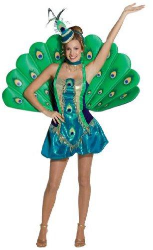 Imagen de rasta  disfraz de pavo real para mujer, talla m 140367