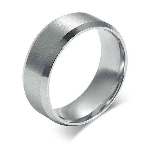 Bishilin Titanio Acciaio Anelli per Uomo Matrimonio