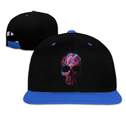 LLALUA Galaxy Red Skull Boys and Girl Hip Hop Sunscreen Baseball Hat Multi Color Knit Skull Cap