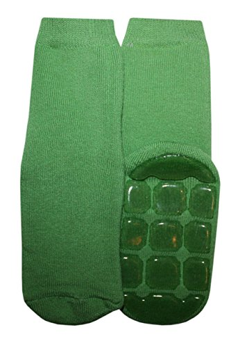 Weri Spezials Unisexe Bebes et Enfants ABS-Turtle Voll-Frotee Pantoufle Chaussons Chaussettes Vert Vert