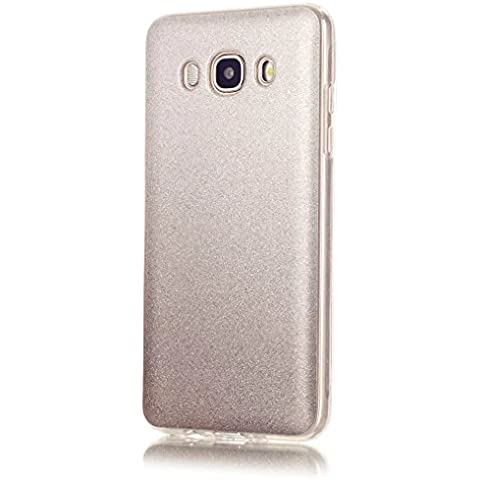 KSHOP Cáscara silicona TPU Bling Bling para Samsung Galaxy J5(2016)J510 Funda caso cristal color brillo Hermosa reluciente Case Cover anti los golpes -