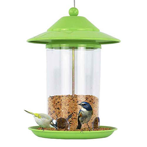 WLDOCA Vogelfutterhaus,Vogelfutterstation,Futterautomat Hängen Laterne Wild Bird Stand Seeds Feeding Station für den Garten im Freien - Wild Bird Feeding Station
