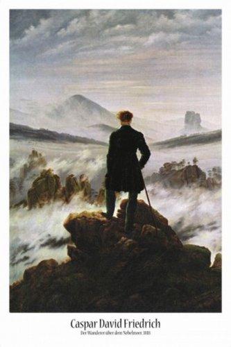 1art1 50704 - Poster con immagine del Viandante sul mare di nebbia, di Caspar David Friedrich, 91 x 61 cm