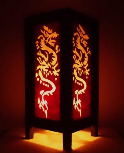 rare-asie-thai-lampe-de-tables-bouddha-style-chevet-blanc-rouge-dragon-par-thailande